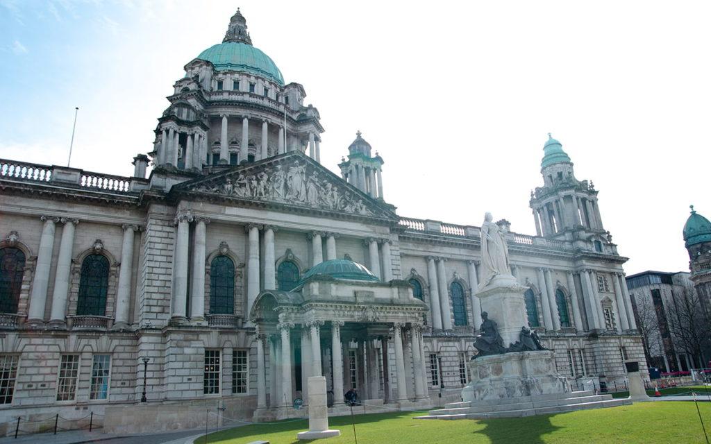 Rathaus in Belfast, Nordirland