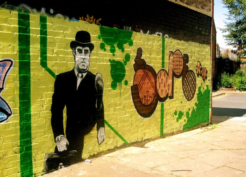 Monty Python Graffiti: Silly Walks Leicester Street Art