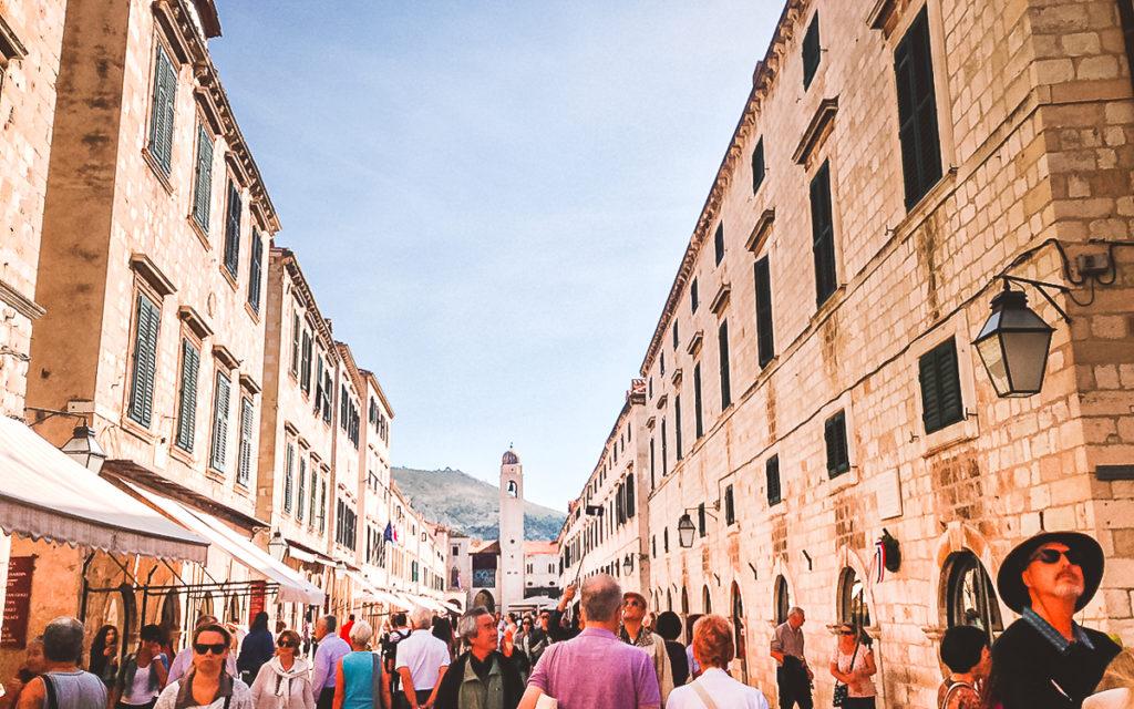 Stradun Altstadt Dubrovnik am Tag