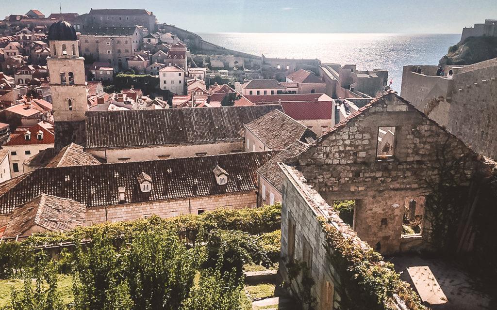 Aussicht Meer Stadtmauer Dubrovnik