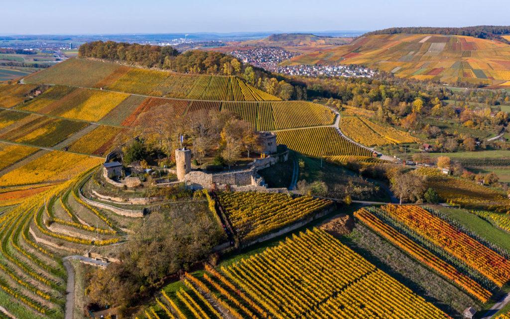 Schönes Ausflugsziel: Burgruine Weibertreu in Weinsberg