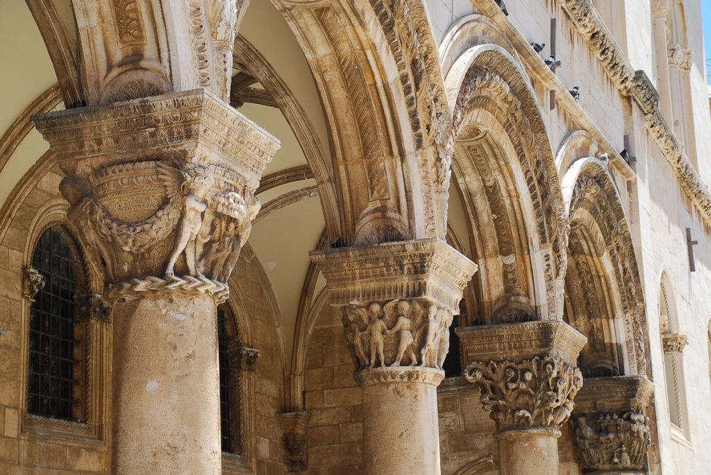 Säulen Rektorenpalast Dubrovnik