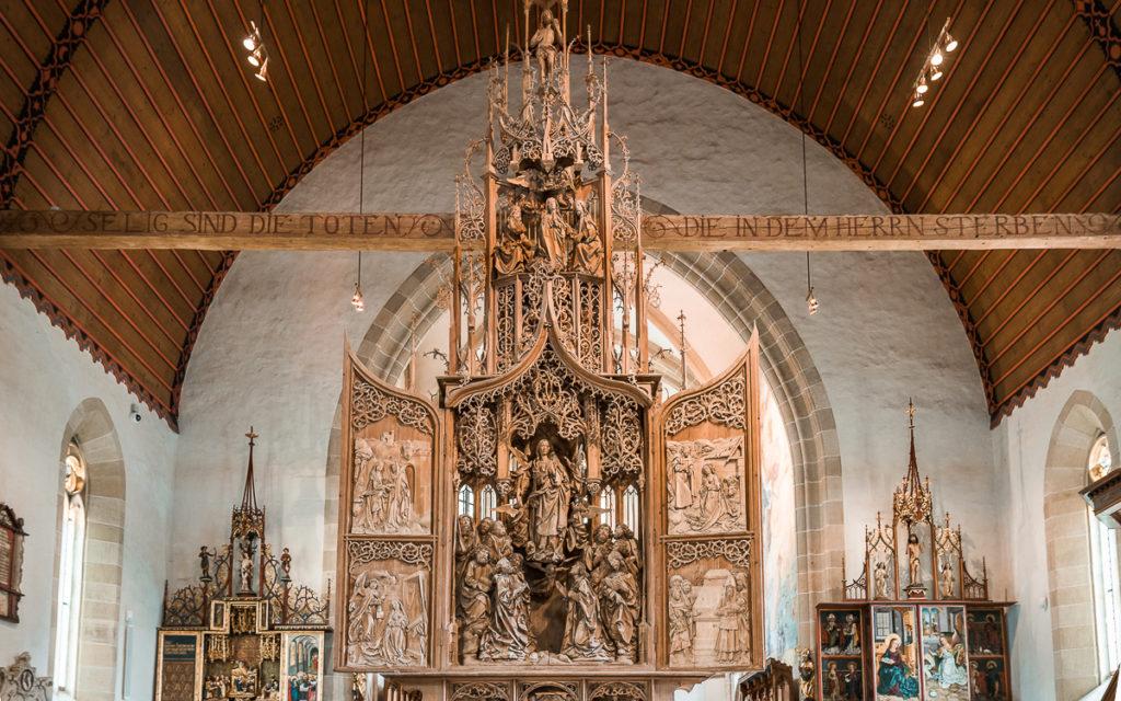 Marienaltar TIlman Riemenschneider in  Herrgottskirche Creglingen