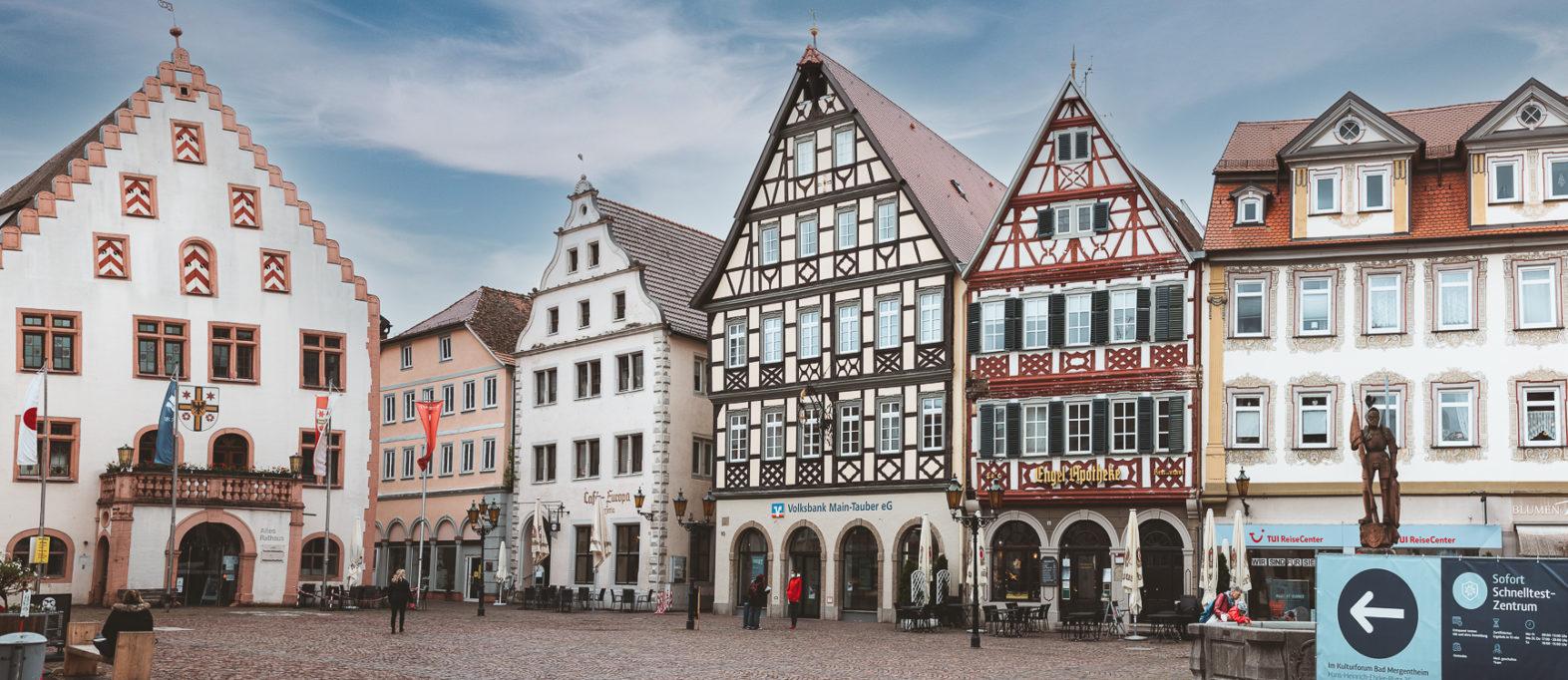 Bad Mergentheim Marktplatz Highlight im Taubertal