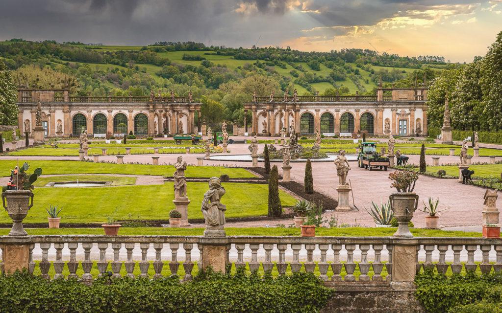 Schlossgarten Weikersheim mit Orangerie
