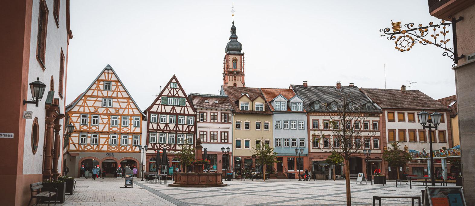 Marktplatz Tauberbischofsheim Sehenswürdigkeiten im Taubertal