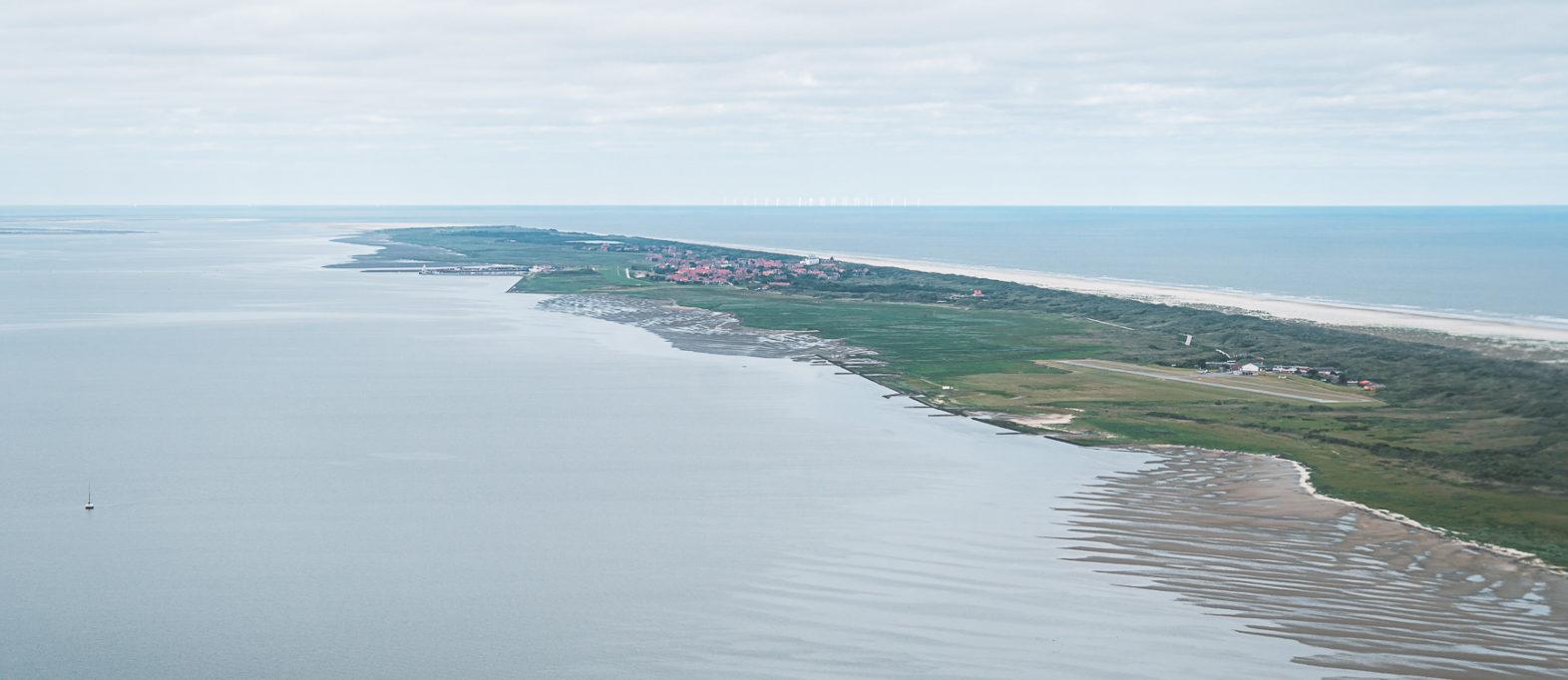 Nordsee Insel Juist von oben