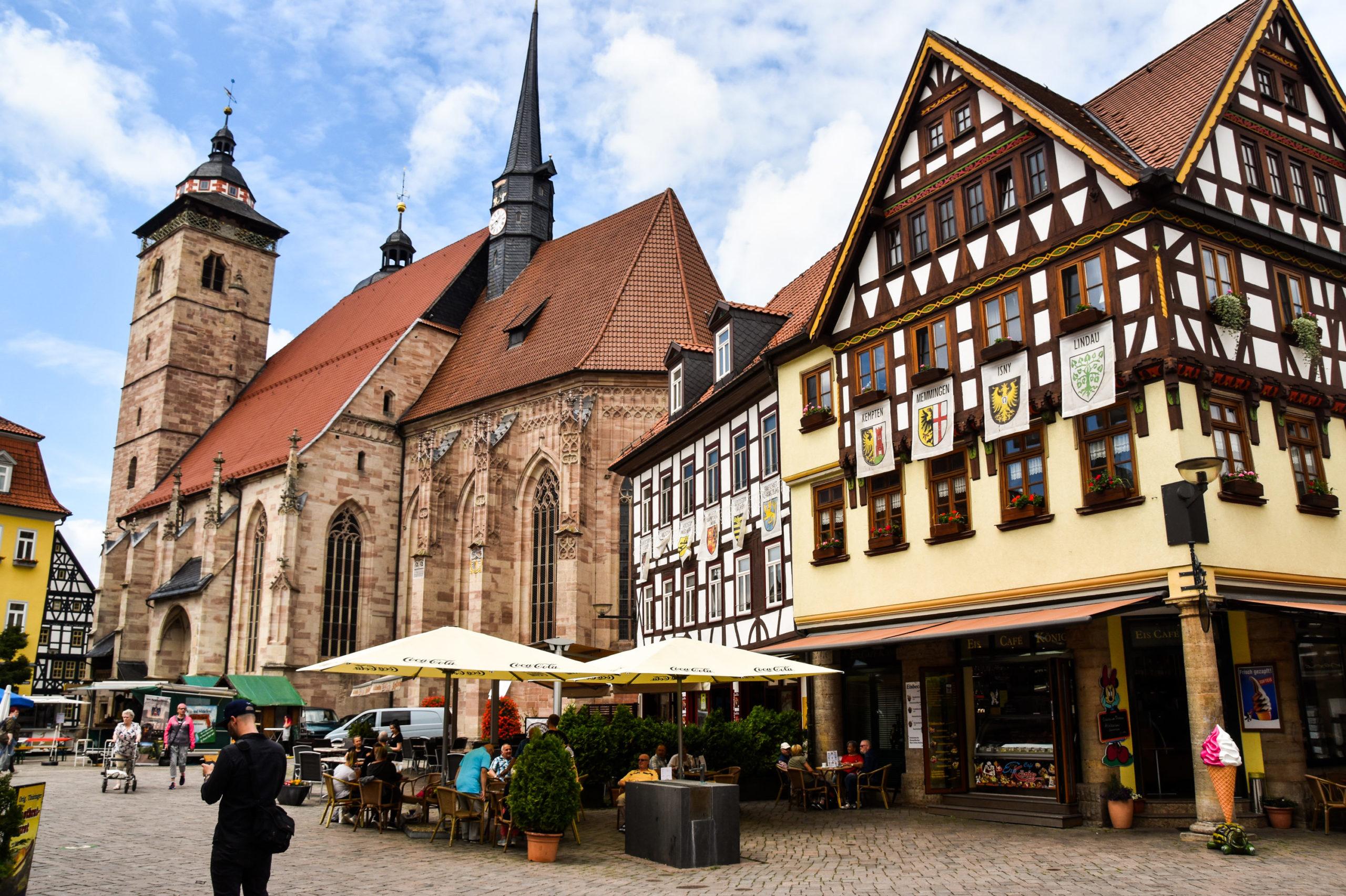 Schmalkalden Fachwerk Marktplatz