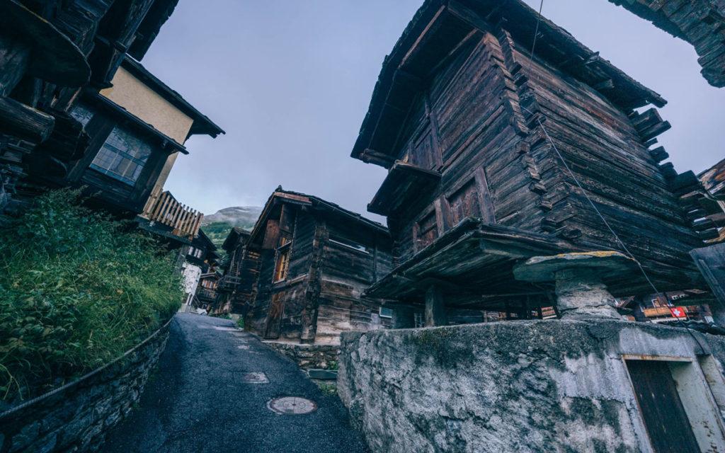 Alte Holzhäuser Zermatt