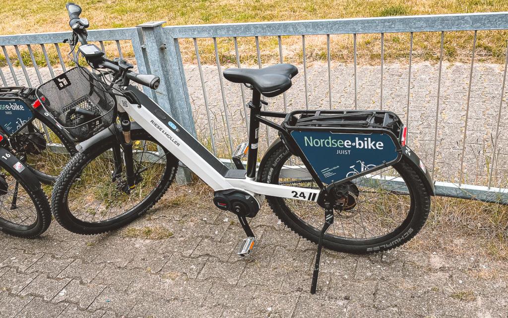 E-Bike mieten auf Juist bei Nodsee Bike