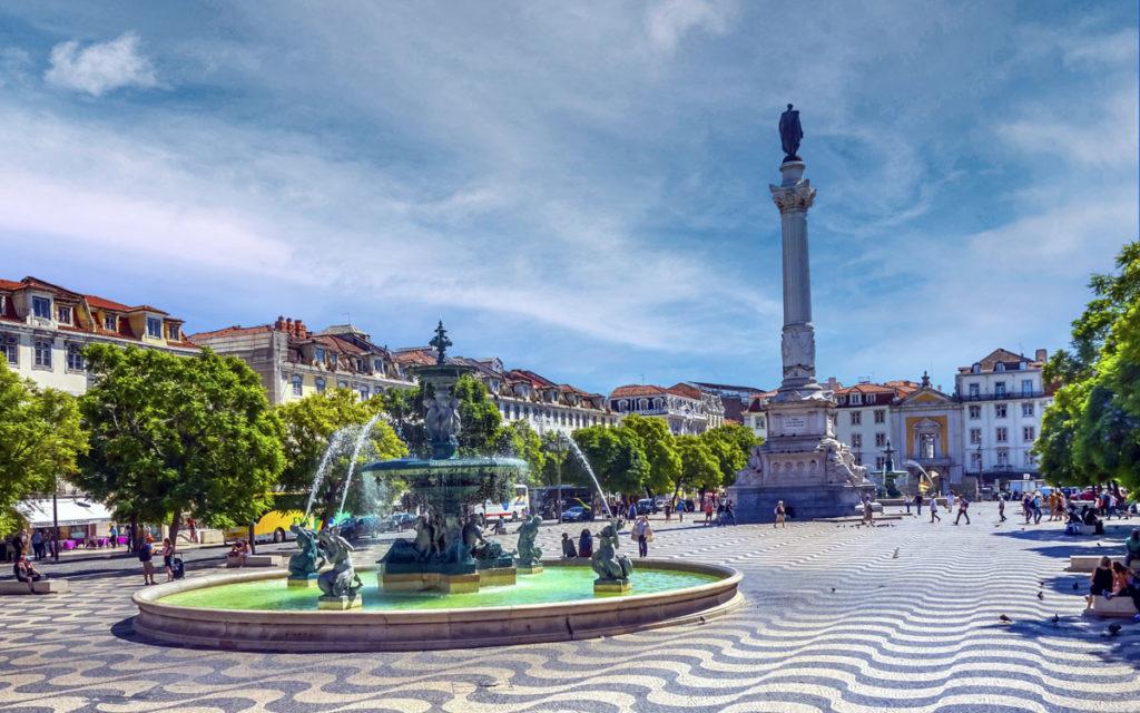 Toller Platz in Baixa (Lissabon): Rossio - Praça Dom Petro IV