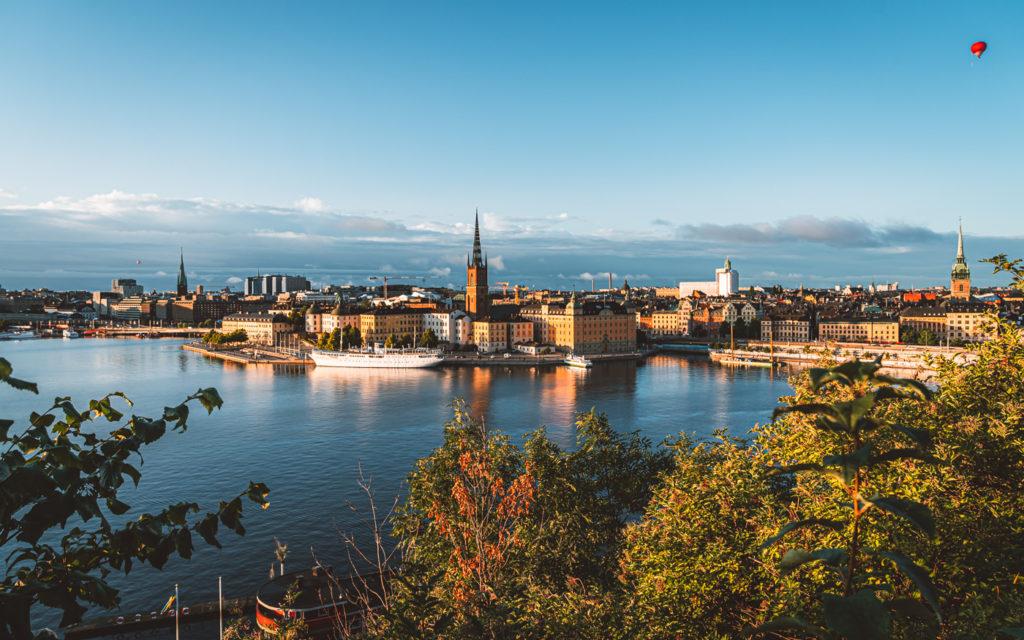 Aussicht Montelius Vägen Mariaberget Stockholm