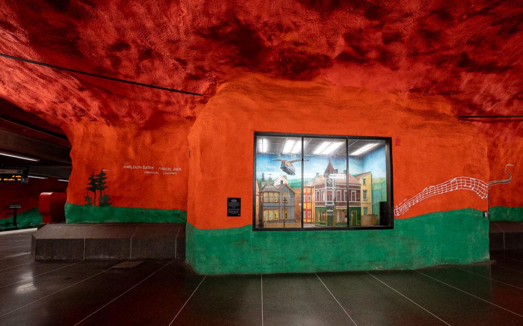 Stockholm: Kunst in den U-Bahn-Stationen auf eigene Faust als Tour 25