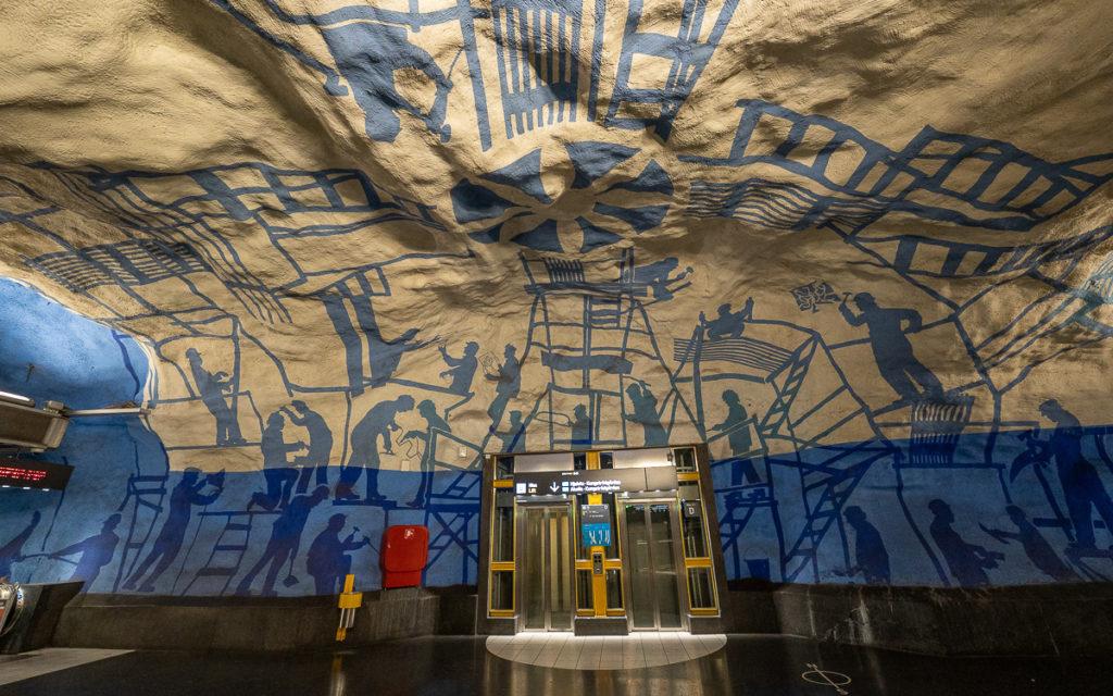 Stockholm: Kunst in den U-Bahn-Stationen auf eigene Faust als Tour 36