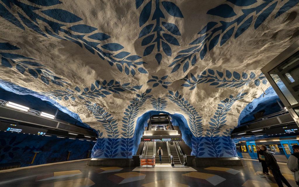 Stockholm: Kunst in den U-Bahn-Stationen auf eigene Faust als Tour 35
