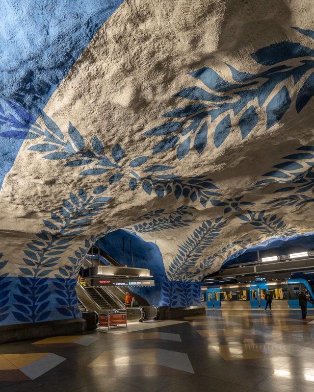 Stockholm: Kunst in den U-Bahn-Stationen auf eigene Faust als Tour 34