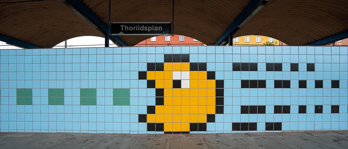 Packman Thorildsplan Stockholm U-Bahn Kunst
