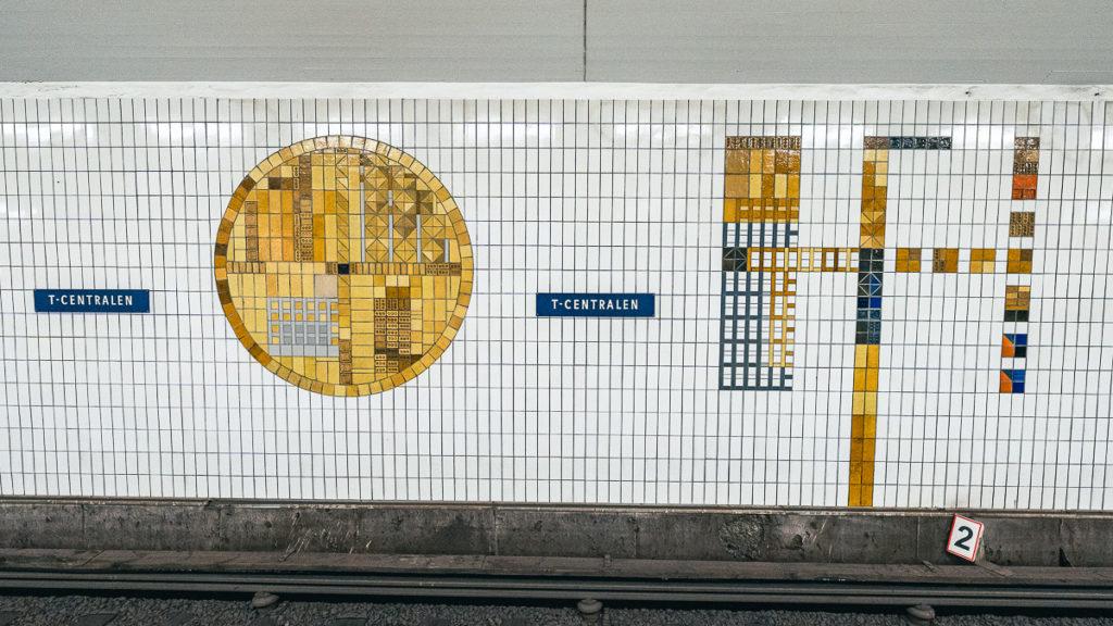 T-Centralen Stockholm rote Linie