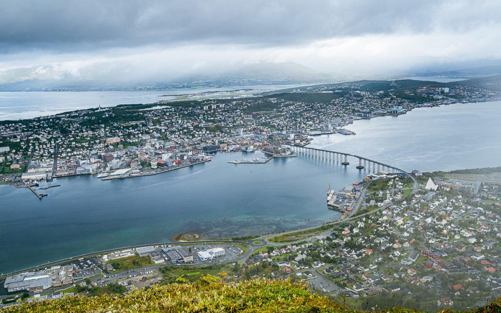 Tromsø von oben Storsteinen Berg