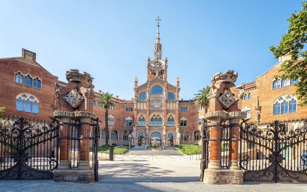 Hospital de Sant Pau in Barcelona ist eine der schönsten Attraktionen