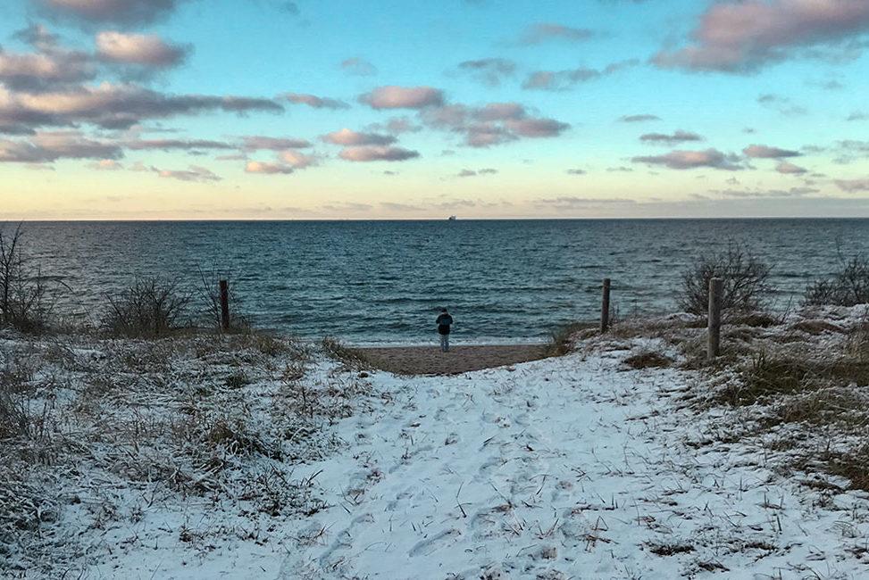 Ostsee im Winter schöne Orte